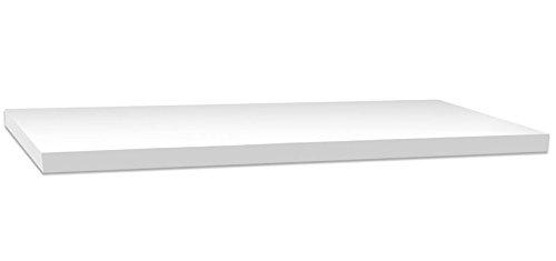 Vetrineinrete® mensola da parete bianca con reggimensola a scomparsa kit montaggio incluso scaffale in legno mdf laccato bianco fissaggio a muro varie dimensioni (120 x 25 cm) 621758