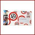 40.Geburtstag Deko XXL Umschlag für Geldgeschenke oder Gutscheine zum 40.Geburtstag Geburtstagskarte zum 40.Geburtstag