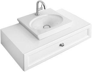 Preisvergleich Produktbild Villeroy & Boch Handwaschbecken La Belle 7324G0 52x46cm mit Hahnloch durchgestochen ohne Überlauf we