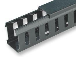 D-Line-Guaina nascondi cavi, 37,5 x 50 mm, lunghezza: 2 m, colore vari slot Canalina chiuso, con coperchio, ideale per l'uso in pannelli di controllo e armadi indicare cavi sicurezza e cablaggio.