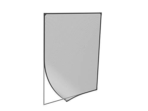 WIP Insektenschutzfenster Magnetfenster mit Kunststoffrahmen | 100x120cm anthrazit