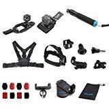 TELESIN Kit accessori per il supporto per Polaroid Cube e Polaroid Cube Lifestyle Action Camera (13 in 1 Kit)