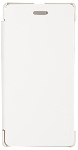 iCandy™ Synthetic Leather Flip Cover for Sony Xperia M - White