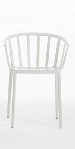 Kartell 5806/03 Venice Chaise - Polycarbonate - Lot de 2 Chaises - 51x75x51 cm - Blanc