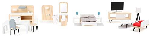 Small Foot Company-11414 Set Completo de Muebles para la casa de muñecas,...