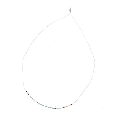 KELITCH Bohemian Armband Rocailles Perlen Handmade Mehrfarbig Zart Schnur Freundschaftsarmbänder Halskette - Grün