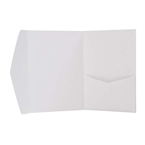 Pocketfold Karten weiß A6 - Hochzeitskarten selber machen