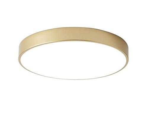 Wohnzimmerlampe Gold Rund Led Deckenleuchte Dimmbar Mit Fernbedienung Modern Deckenlampe Wohnzimmer Schlafzimmer Panel Lampe Küche Decke Leuchten Flache Küchenleuchte Schlafzimmerlampe (60CM 48W)
