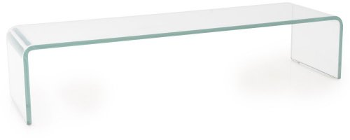 TV Schrank-Aufsatz 90 cm Glas Fernsehtisch Glasplatte Glasaufsatz Glastisch Hagen B153085-1 transparent