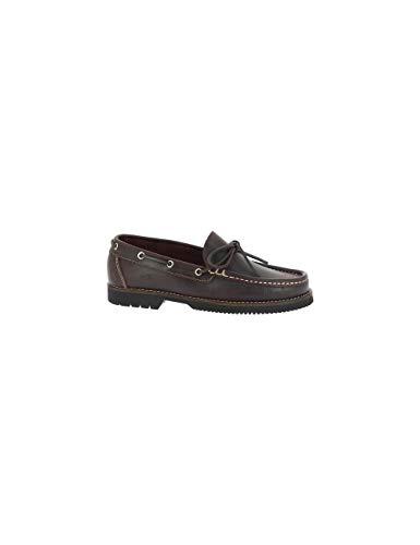 La Valenciana Zapatos para Hombre Fabricados en España de Piel Náuticos Fluchos 156 Marrón - Color...