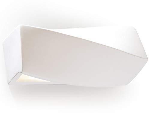 Applique da parete in gesso con deckey lampada da parete in