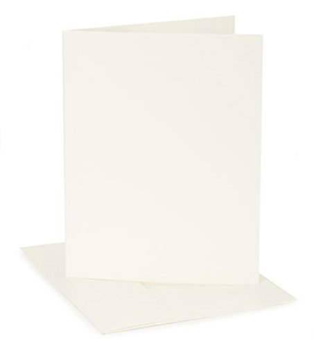 Darice GX-8000-95 Coordination's A1 Size Cards and Envelopes (Set of 12), Ivory Canvas
