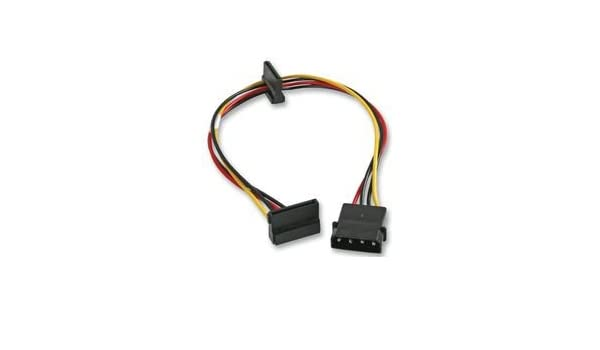 Metric 350mm Conn Lead 4PIN MOLEX to 2X15PIN SATA 35CM Cable Length Imperial 13.78 Cable Length
