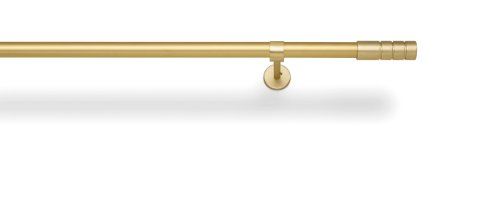 Terminal pour barre décorative de rideau de ø22 mm – Couleur laiton mat – Terminal Cylindre strie