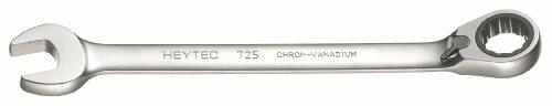 Heytec 50725012080 Clé mixte à cliquet réversible, Argent, 12 mm