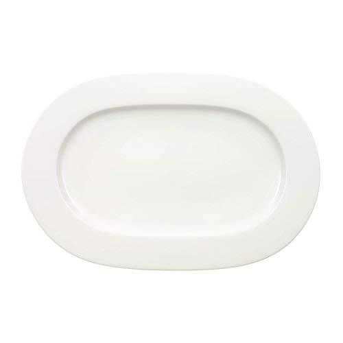Ovale Platten (Villeroy & Boch klein Royal Platte oval, Porzellan, weiß, 44.5 x 33.2 x 4 cm)