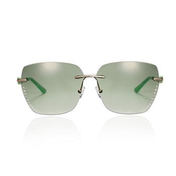 Randlos Sonnenbrille Metall, grün