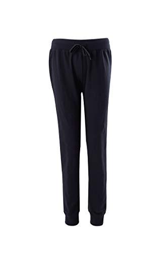 Donna pantaloni sportivi in cotone con laccetti, pantaloni jogging da ginnastica
