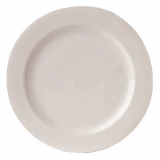 Classic White Rim Rimmed Plate large. Dimensions: 240 mm (9,5 \