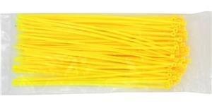 2,5 mm x 100 mm x Cables UK , 100 Stück Nylon Kabelbinder gelb