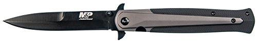 Smith & Wesson Erwachsene M und P Stiletto Messer, schwarz, 21,5 cm