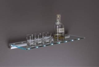 LED Rail and Glass Shelf Kit 600mm