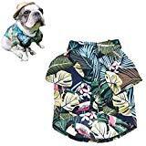 Meioro Haustier Kleidung Hund Kleidung Bequem Dog Shirt Hawaiian Style Strand Stil Baumwolle Material Puppy Französischen Bulldogge Mops, L, Type-2 (Hunde Kostüm Strand)