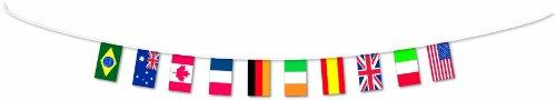 Amscan PPP Flaggen-Girlande, 5 m