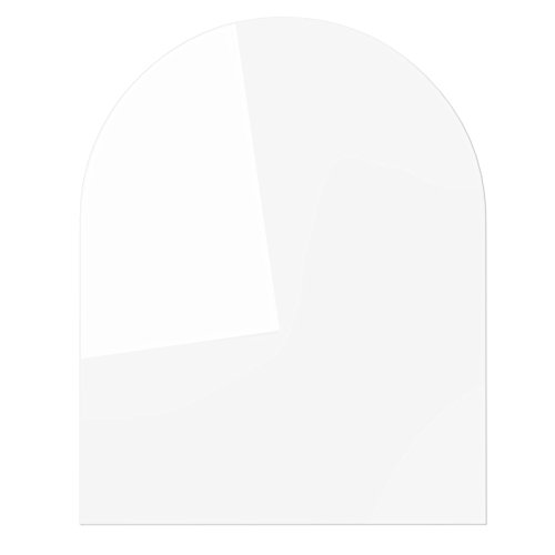 Temprix Funkenschutzplatte | Für Kamin & Ofen geeignet | Kaminbodenplatte Glas mit C-Schliff | 1200 x 1000 mm | Sondermaße & Anfertigung auf Anfrage (Hohe Decken, Kamin)