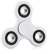 Premsons 608 Four Bearing Ultra Speed Tri Fidget Hand Spinner, White/Black
