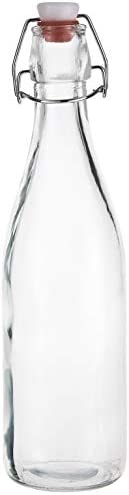 HARMONY GLASS BOTTLE WITH CLIP TOP 500ML 50034-2