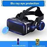 """Chnzyr VR Headset, Universal 3D VR Brille Einstellbar Brille Video Movie Game Brille Virtual 3D Reality Glasses VR World Head Mounted Für 3D Filme Und Spiele Für 4.7-6"""",Schwarz"""
