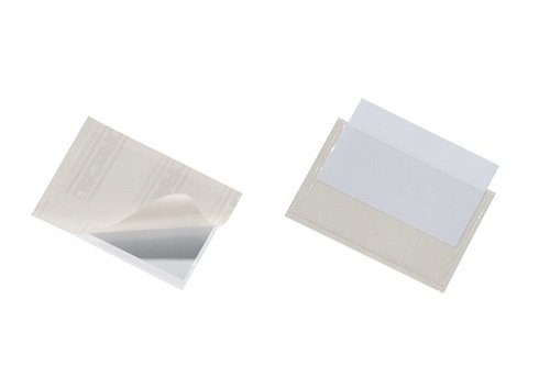 Durable 829319 Selbstklebetasche Pocketfix, 90 x 57 mm (Innen) Packung à 100 Stück transparent