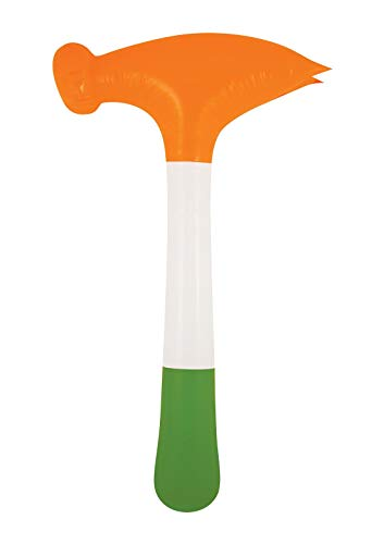 Islander Mode aufblasbare irische Tricolor Hammer Zubeh�r St Patrick Tag 60cm Party Blow Up Spielzeug eine Gr��e (Packung mit 1) - 1 Pack Tri-color