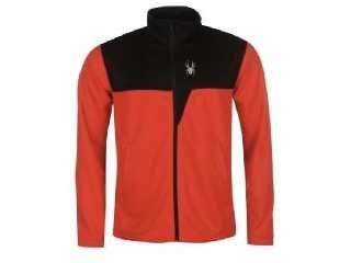 Spyder Ryder Herren Midlayer Jacke Rot Schwarz alle Größen Neu mit Etikett (S) | 00889212912093