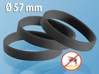 PEARL Anti-Mücken-Armband (57mm Durchmesser), 3er-Pack, schwarz