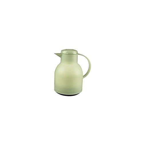Emsa Samba Isolierkanne Quick Press 1 L Weiß Transluzent, Teekanne, Kaffeekanne, 504687