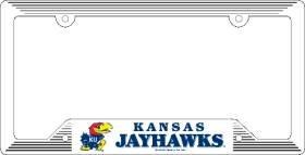 NCAA Kansas Jayhawks Plastic License Plate Frame, Team Color, One Size