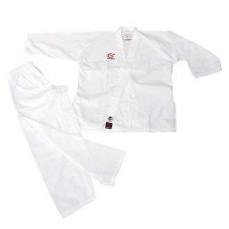 WACOKU WKF Genehmigt Karate Elite Studenten Erwachsene Kostüm (8oz) - 7/200CM