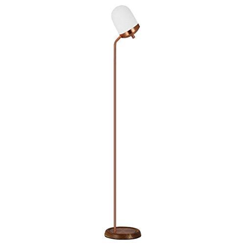 Postmodern Style Schlafzimmer Kopfteil vertikale LED Stehlampe, Eisen Lichtmast, Holzfuß Wohnzimmer Esszimmer Stehlampe, hochwertige Glas Lampenschirm Office Cafe Stehleuchte, E27 -