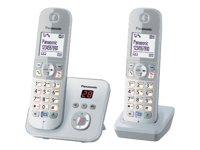 Panasonic KX-TG6822 - Teléfono (DECT, 30 min, Plata, Escritorio, 120 entradas, 103 x 65 Pixeles) [Importado de Alemania]