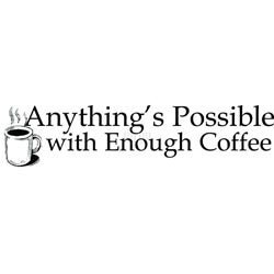 Riley Mount Rubber Stamp-Anythings Possible -Enough Coffee 2 Pk