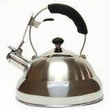 Creative Home Saturn Dickem Edelstahl Pfeifen Wasserkocher Tee mit Kapselboden, 2.8-Quart