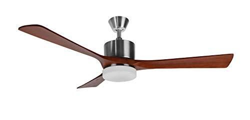 Orbegozo CP 97132 - Ventilador de techo con palas de madera natural, mando a distancia, luz LED, 136...