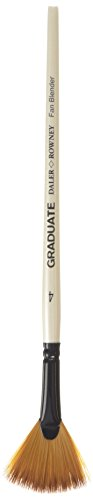 Daler-Rowney Graduate Acrylic/Oil Brush - Fan Blender 4 - Fan Blender Brush