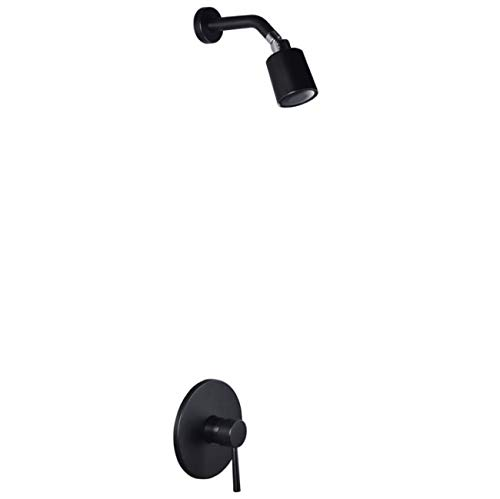 Tochange Verdecktes Duschsystem für einfaches Bad Duschset mit Kupfer schwarzer Düse Für das Hotel Bademantel Faucet -