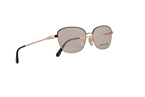 Michael Kors MK3027 Key Largo Eyeglasses 52-16-140 Shiny Rose Gold w/Demo Clear Lens 1108 MK 3027