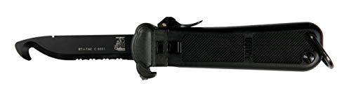 Eickhorn - Rettungsmesser RT-1 TAC Schwarz| Messer - Solingen - Germany - Qualität |Rettungswerkzeug - Gürtelschneider - rostfrei