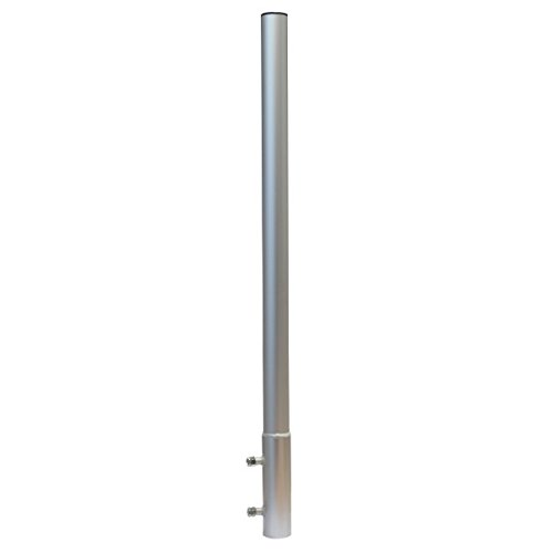PremiumX Mastverlängerung 70 cm Ø 50 mm ALU Mastaufsatz Antennenmast Verlängerung Sat-Mast-Halter Aluminium mit Mastkappe -