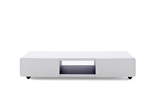 Robas Lund, Lowboard, Fernsehtisch, TV-Schrank, Jeff II, weiß, 41 x 140 x 28 cm, 30930WS7
